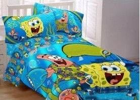 buy spongebob squarepants bedding spongebob toddler bed 13381 | spongebob bedding spongebob pajama party comforter
